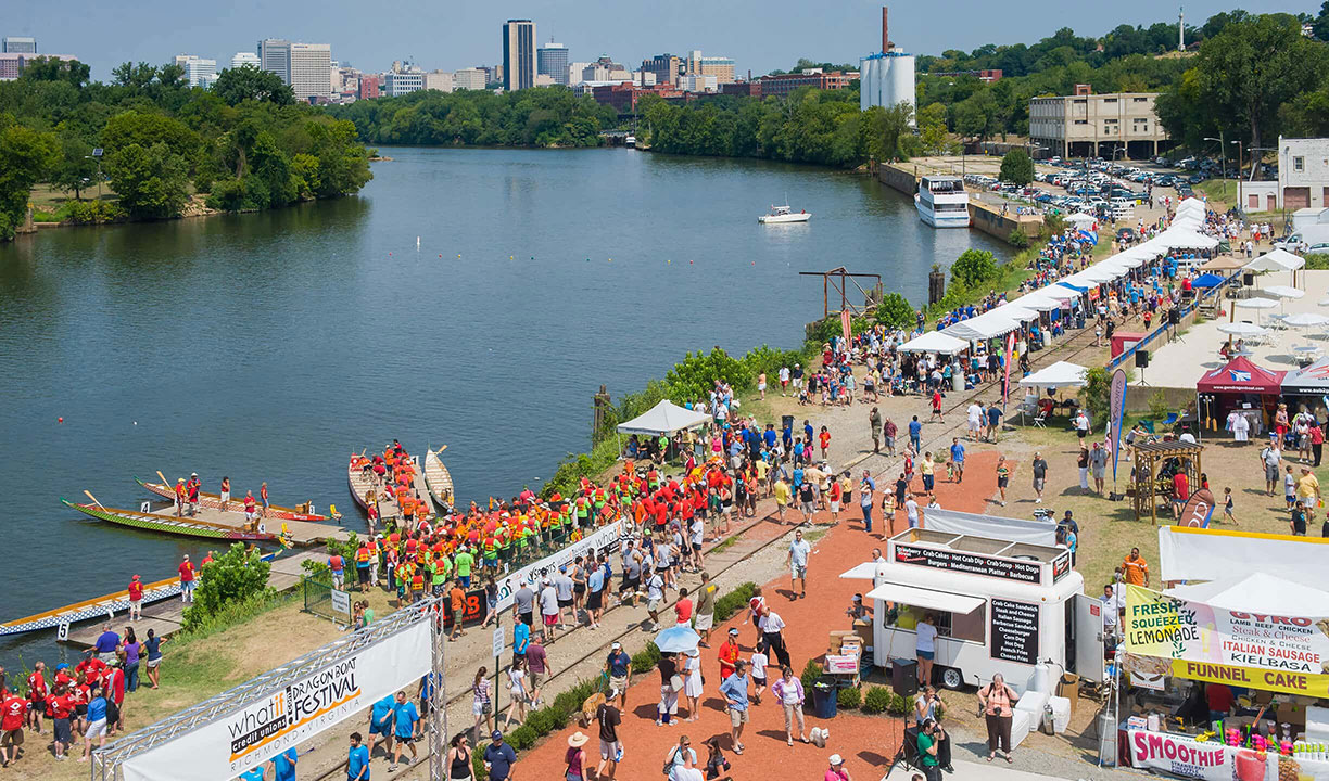 The Dragon Boat Festival along the James River