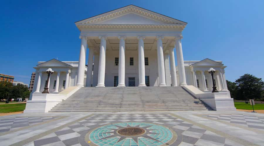 Exterior of Virginia State Capitol