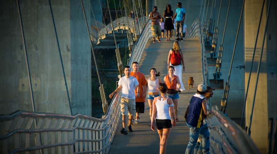 Belle Isle pedestrian bridge